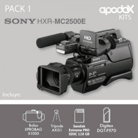 PACK 1 SONY HXR-MC2500E