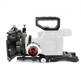 CAME-TV Rig de hombro (Shoulder Rig) para Canon EOS C200 con Mattebox Follow Focus PK03