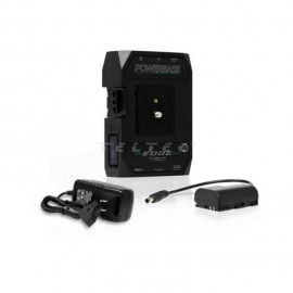 CoreSWX PowerBase EDGE Small Form Cine V-Mount Battery Pack 49wh, 14.8v with Canon LPE6