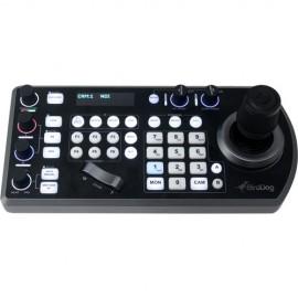 Controlador de teclado BirdDog PTZ con NDI, VISCA, RS-232 y RS422, compatible con BirdDog Comms