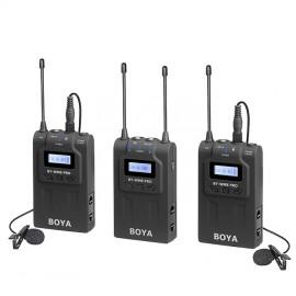 Boya Kit Micrófono inalámbrico UHF Pro 2TX+1RX