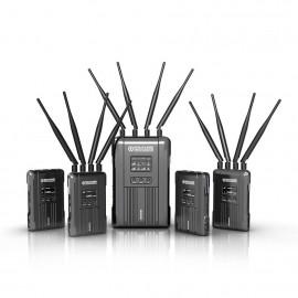 Hollyland Syscom421 Kit Transmisión Inalámbrico SDI/HDMI 600m 4 emisores a 1 receptor