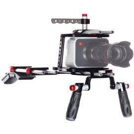 SHAPE Blackmagic Shoulder Mount Offset Camera Rig