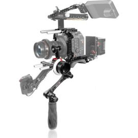 SHAPE Canon C500 Mark II Baseplate with Cage, Left-Side Handle & Follow Focus Pro