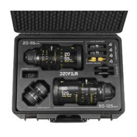 Kit de lentes con zoom DZOFilm Pictor 20-55 mm y 50-125 mm T2.8 Super35 (montura PL y montura EF, negro)