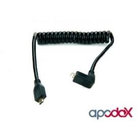 Cable Atomos HDMI Acodado en Espiral - Micro a Full HDMI 50 cm