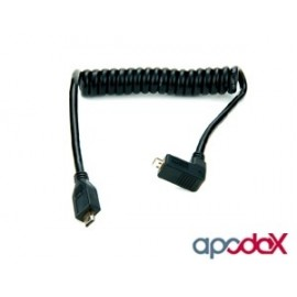 Cable Atomos HDMI en Espiral - Micro a Full HDMI 30 cm