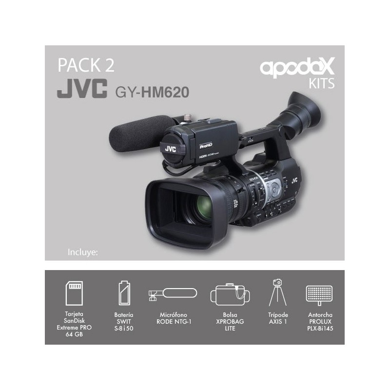 PACK 2 - JVC - GY-HM620