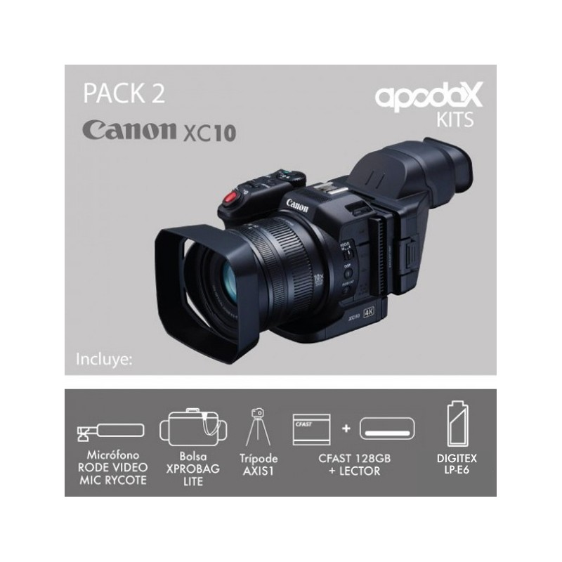 PACK 2 CANON XC10