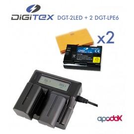 PACK 3 DIGITEX (Compatible Canon LP-E6)