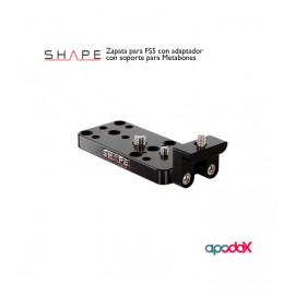 SHAPE Zapata para FS5 con adaptador con soporte para Metabones®