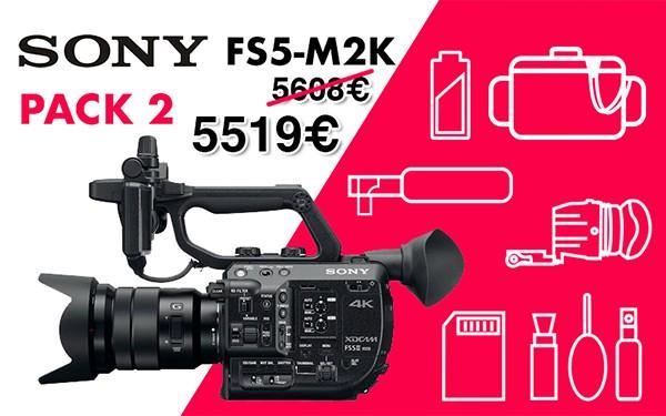 Pack 2 sony fs5 m2k