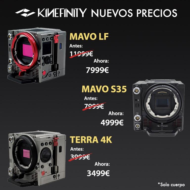kinefinity nuevos precios
